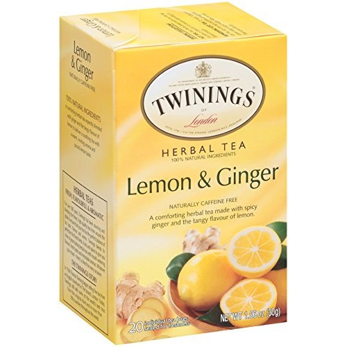 Twinings Lemon and Ginger Herbal Tea Bags 20ct.