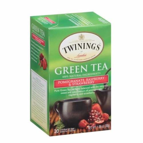 Twinings Pomegranate, Raspberry & Strawberry Green Tea Bags 20ct.