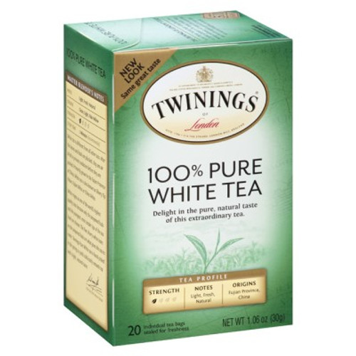 Twinings 100% Pure White Tea Bags 20ct.