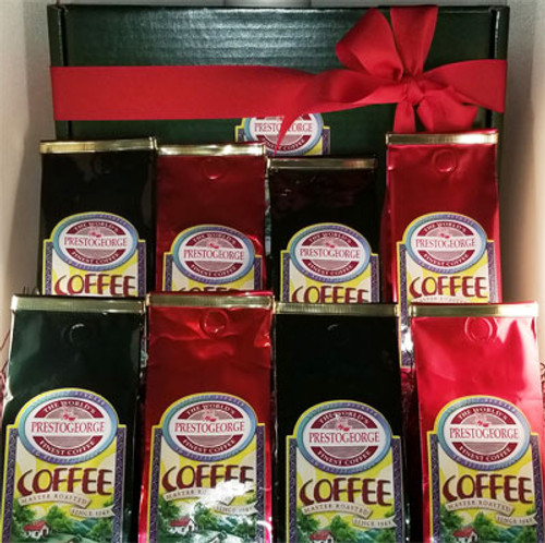 Flavored Coffee Lovers' Gift Box - 8 Coffees
