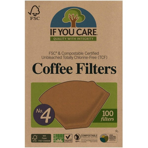 If You Care Coffee Filters No. 4, 100ct.