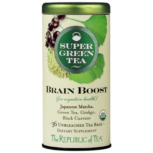 Republic Organic Brain Boost SuperGreen Tea Bags 36ct.