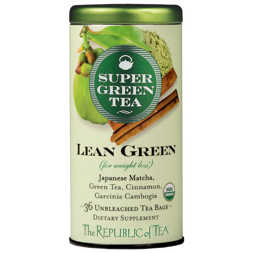 Republic Organic Lean Green SuperGreen Tea Bags 36ct.
