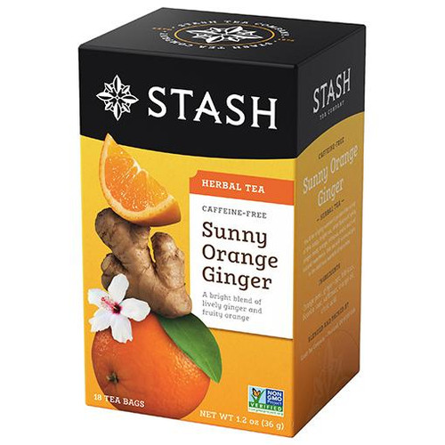 Stash Sunny Orange Ginger Herbal Tea Bags 18ct.