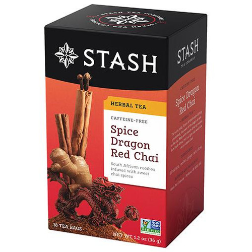 Stash Spice Dragon Red Chai Herbal Tea 18ct.