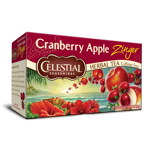 Celestial Seasonings Cranberry Apple Zinger Tea Bags 20ct.