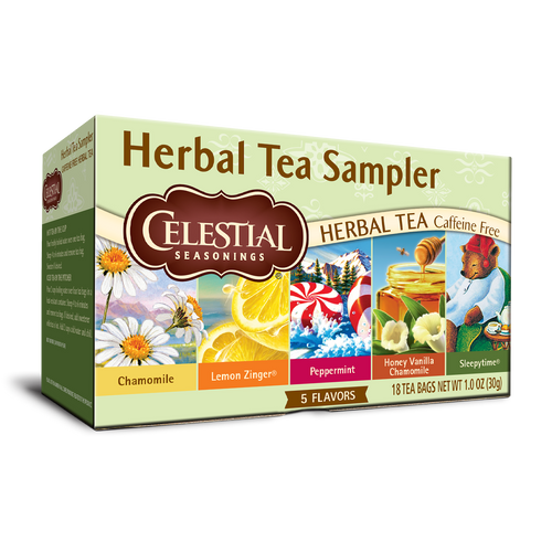 Celestial Seasonings Herbal Tea Sampler 18ct.