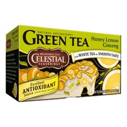 Celestial Seasonings Honey Lemon Ginseng Green Tea Bags 20ct.