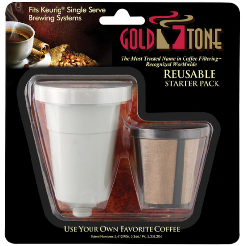 Gold Tone 1-Kup Reusable Keurig Filter Starter Pack