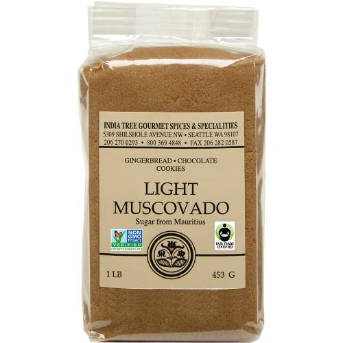 India Tree Light Muscovado Sugar 1 lb.