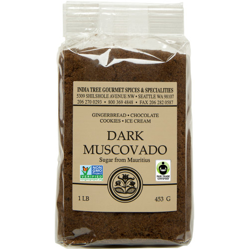 India Tree Dark Muscovado Sugar 1 lb.