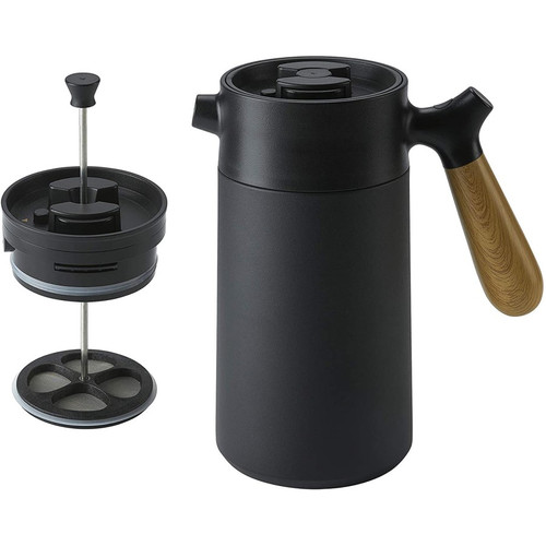 CasaWare  Stainless Steel Thermal French Press Coffee and Tea Maker 32oz. Black