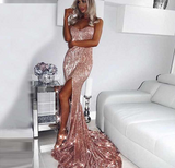 Rose Sequin Maxi Dress
