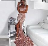 Rose Sequin Maxi Dress