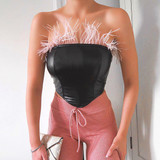 Leather Feather Bustier
