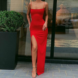 Fire Red Maxi Dress