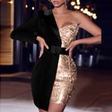 Tuxedo Sweetheart Dress