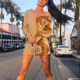 Velvet Color block Dress