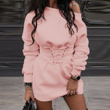 Pink Corset Sweat Dress