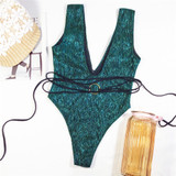 Emerald Wrap Swimsuit