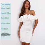 Ruffle Satin Dress