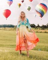 Rainbow Ruffled Dress