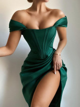 Green Panel Dress