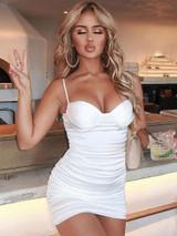 White Runch Bustier Dress