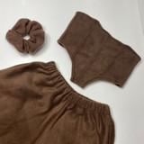 Chocolate Fuzzy Sweat Set