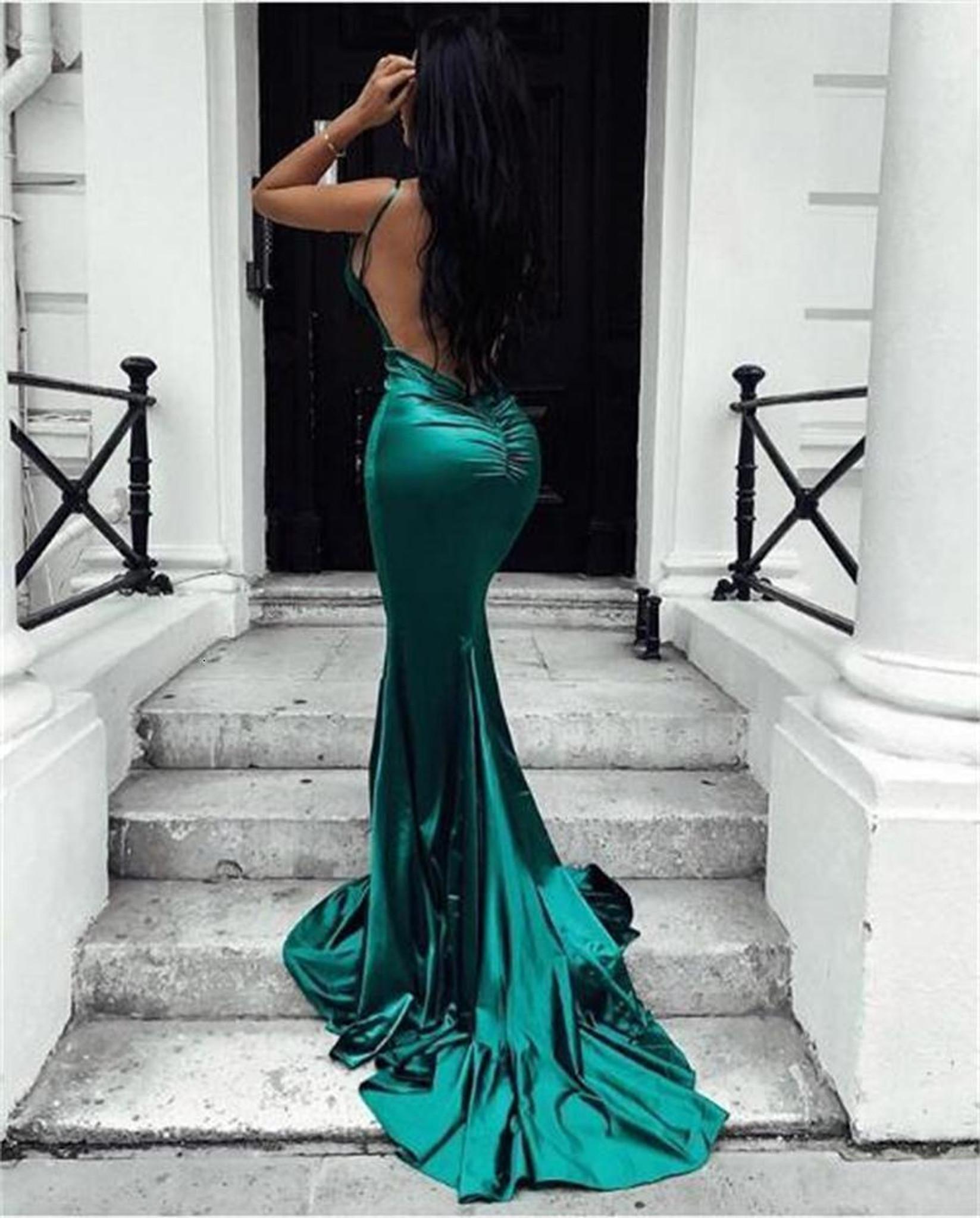 Emerald Satin Maxi