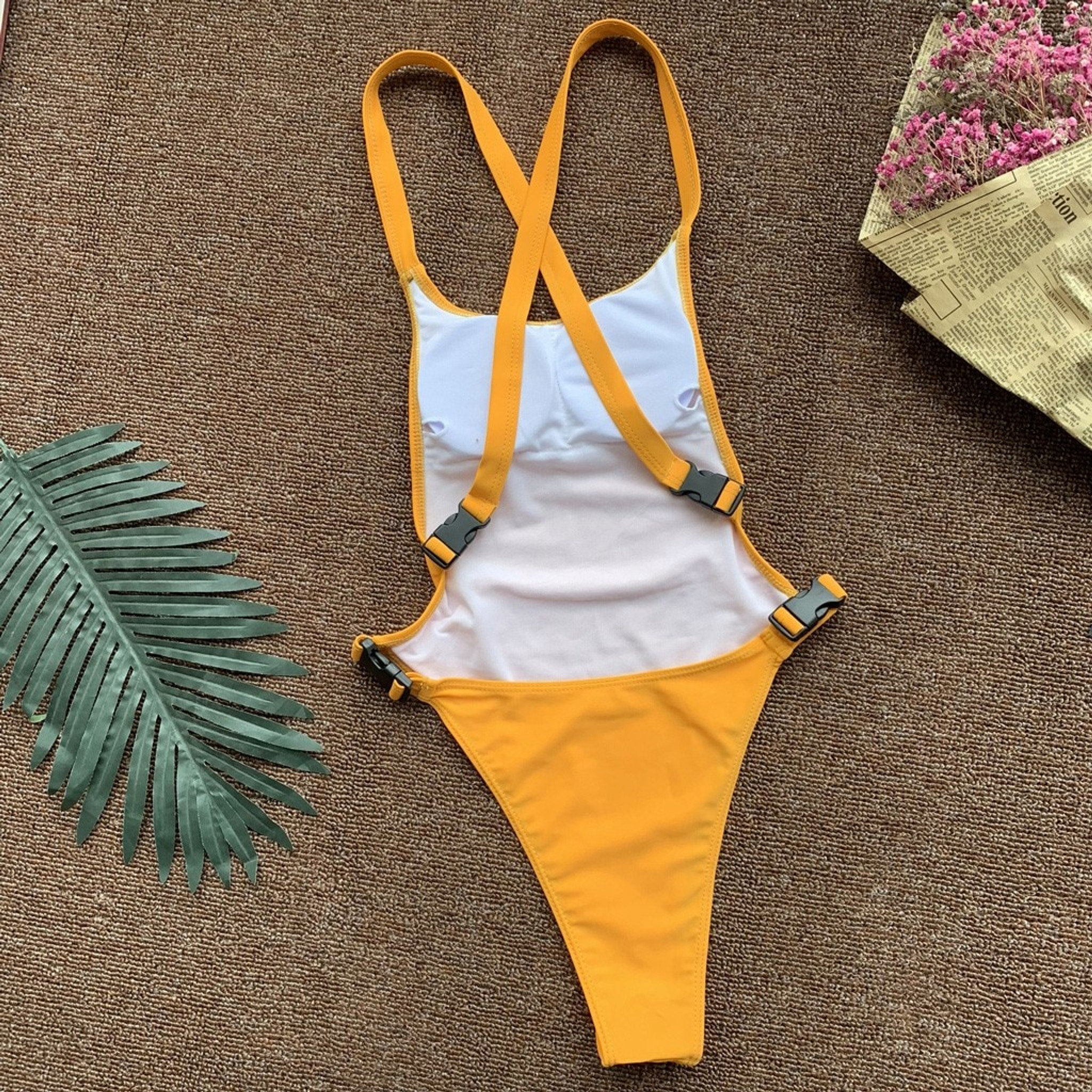 Bold Yellow  Swimsuit