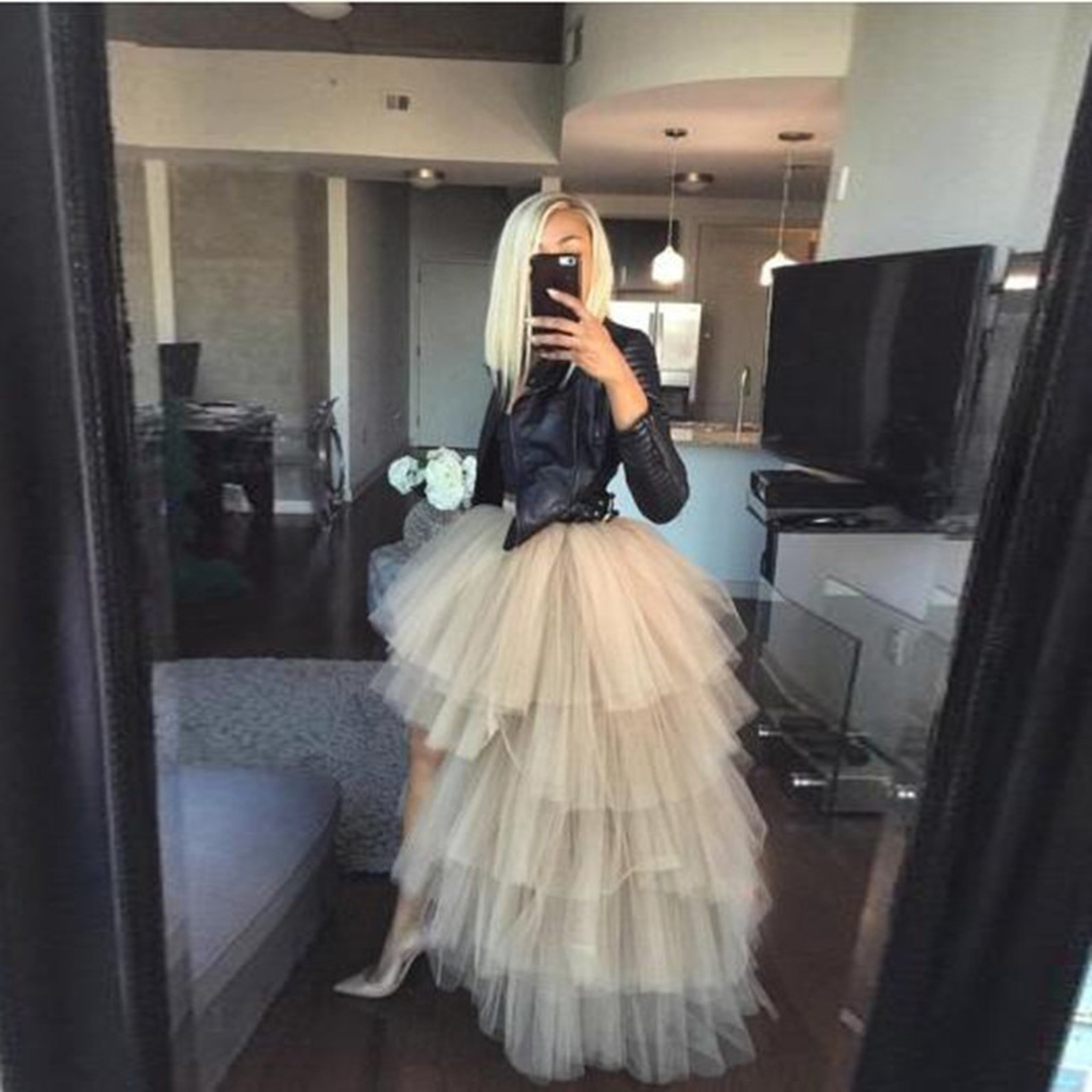 Tulle Skirt Ivory