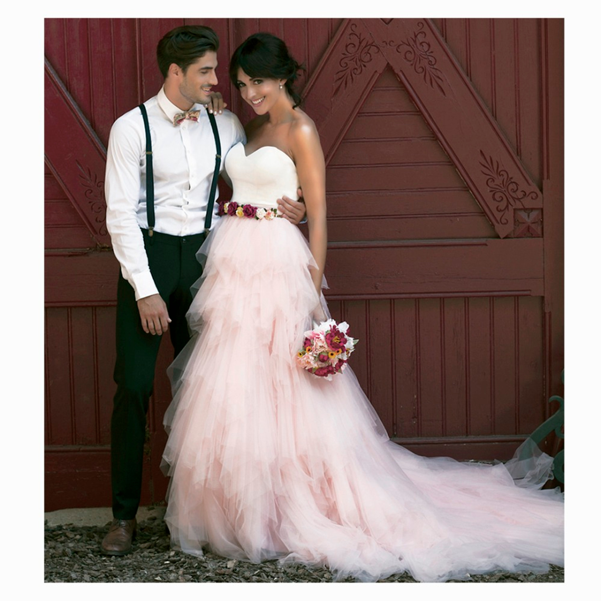Wedding Pink Tulle Skirt