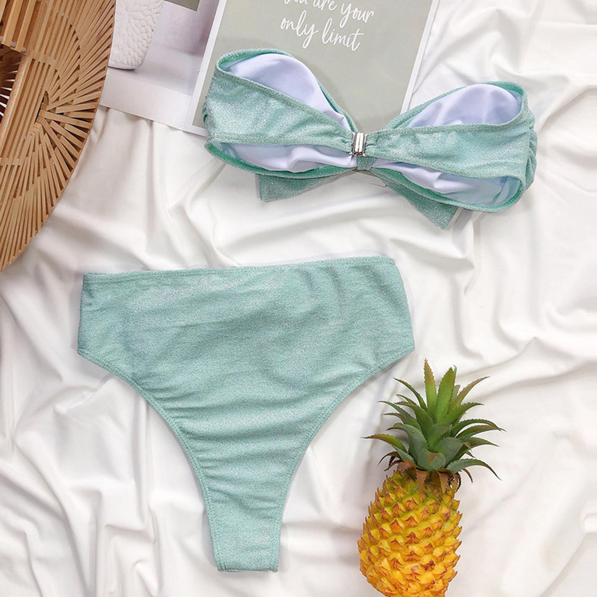 Teal Bow Bikini