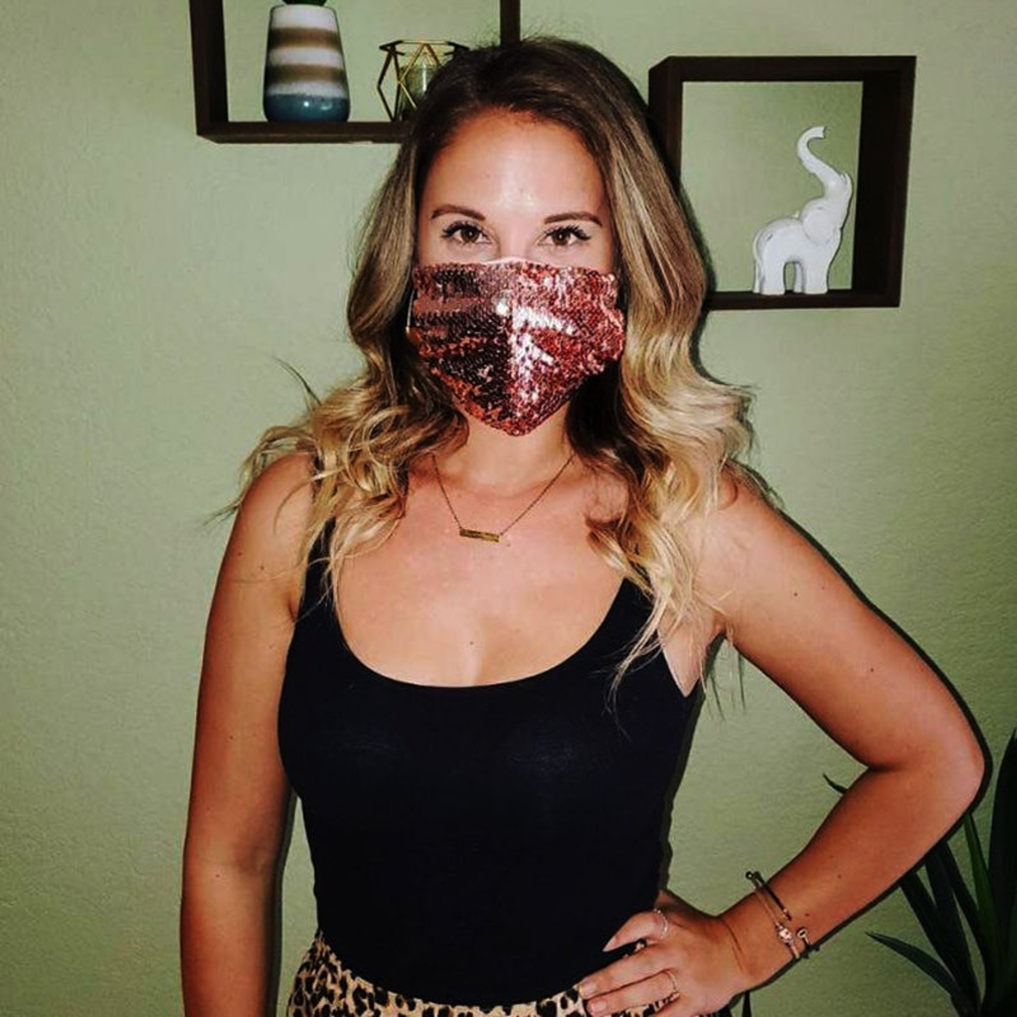 Red Sequin Mask