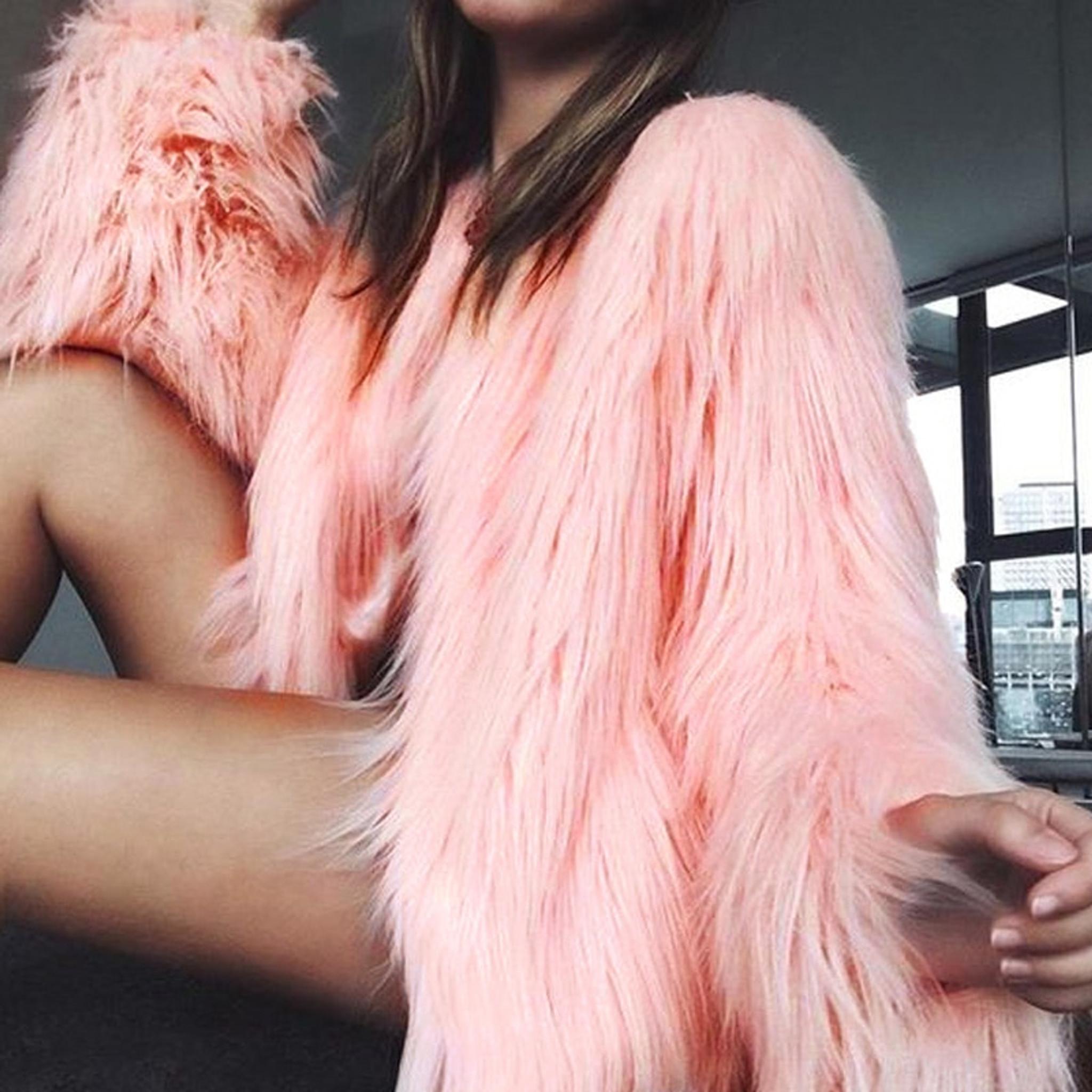 Pink Shag Coat