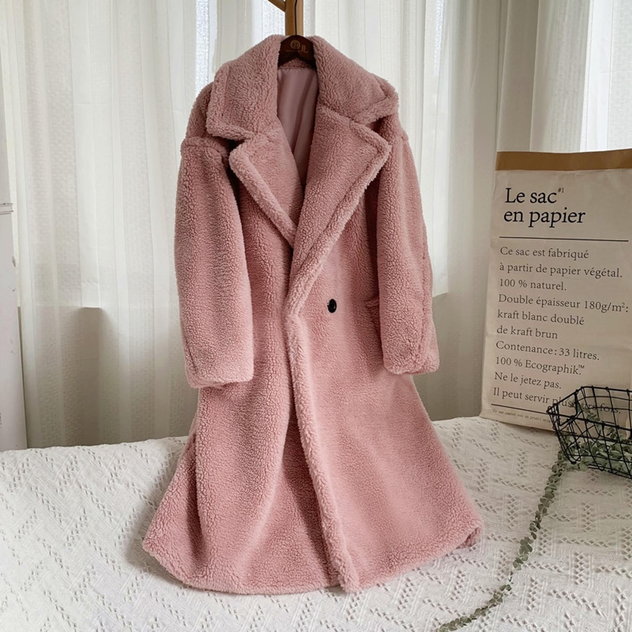 Mauve Faux Fur Coat