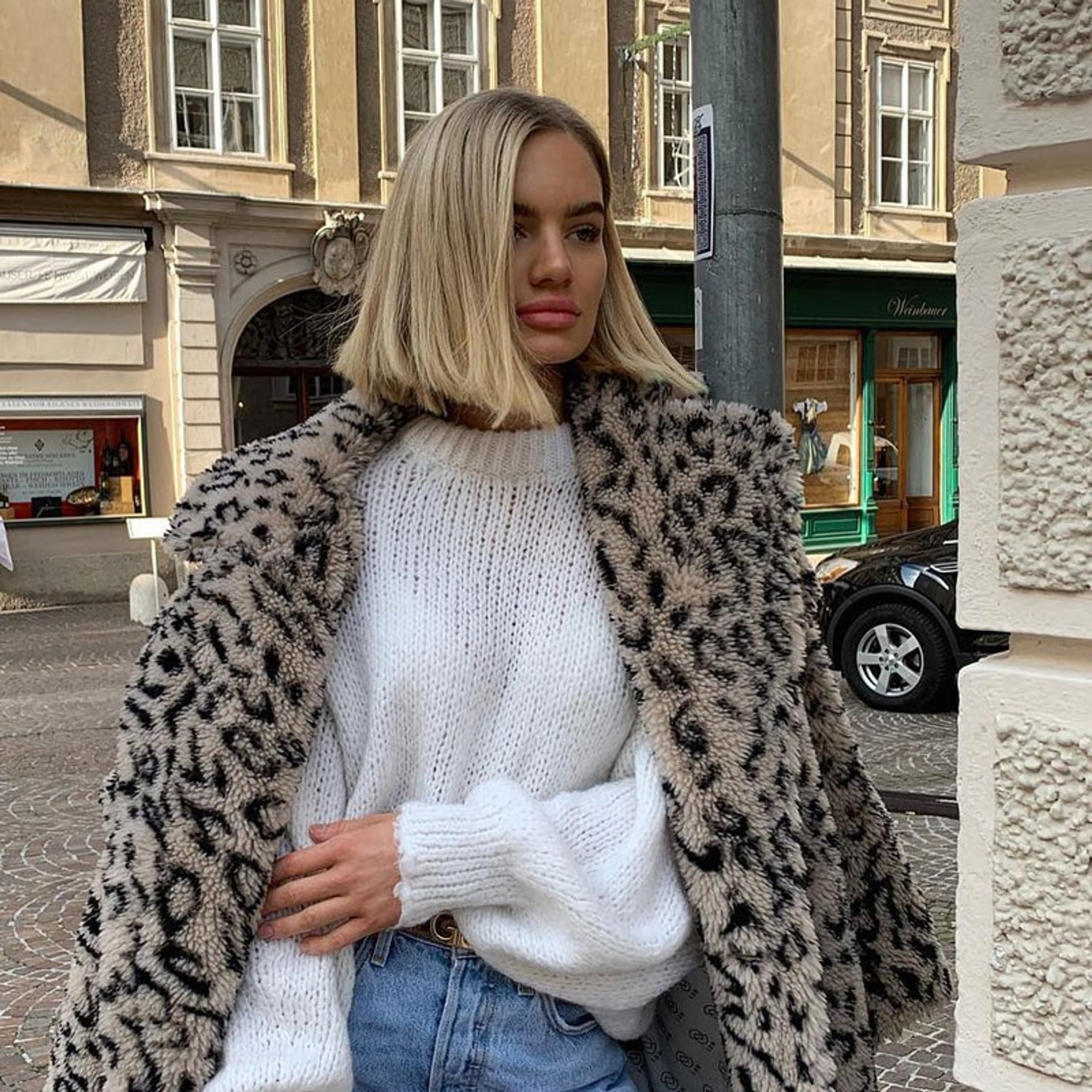 Leopard Teddy Coat