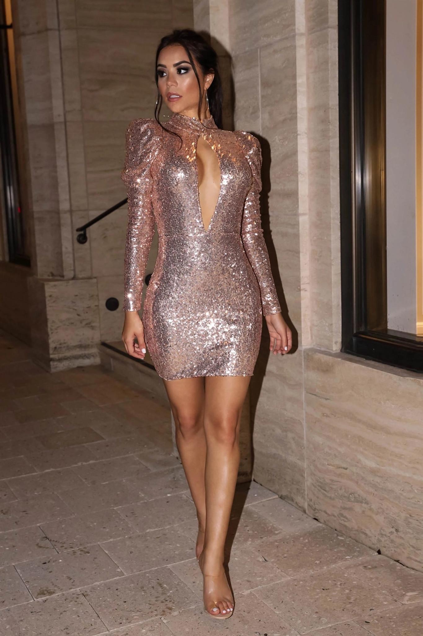 Peek Sequin Dress