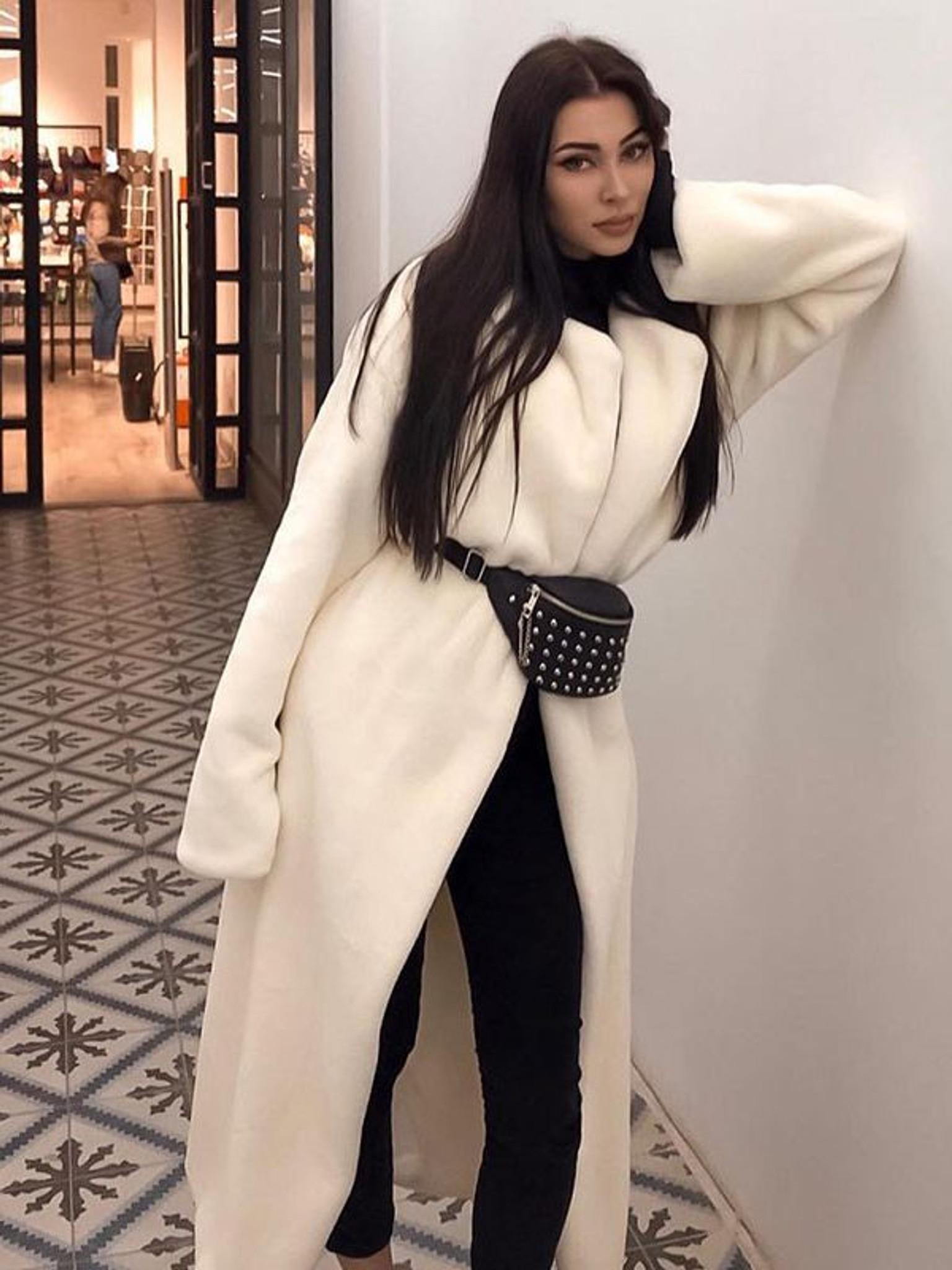 White Plush Girl Coat