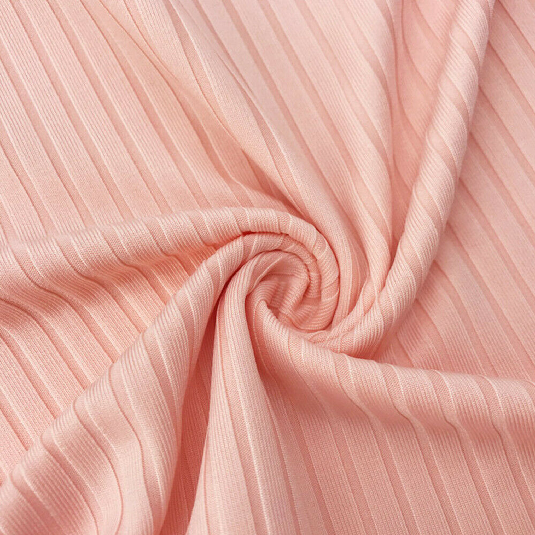 Pink Ribbed Sweater Dress