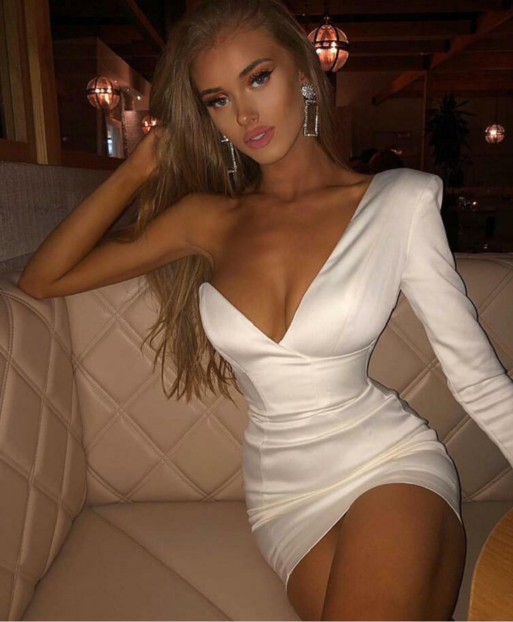 White Sweet Satin Dress