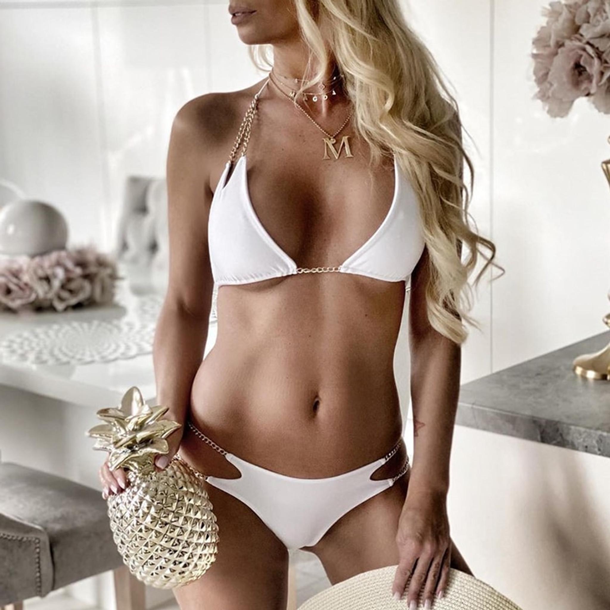 Chain Bikini White