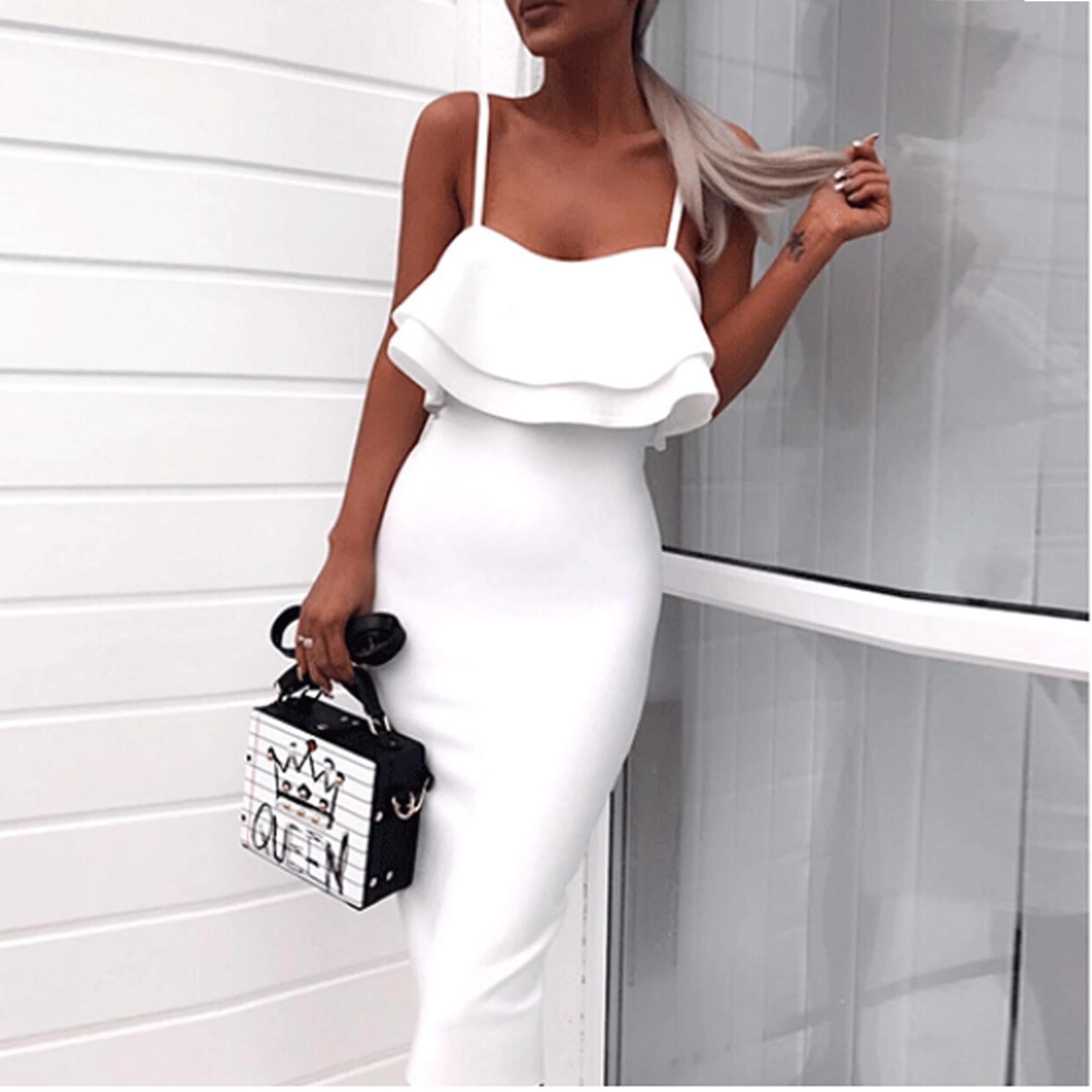 Ruffle Off shoulder Dress