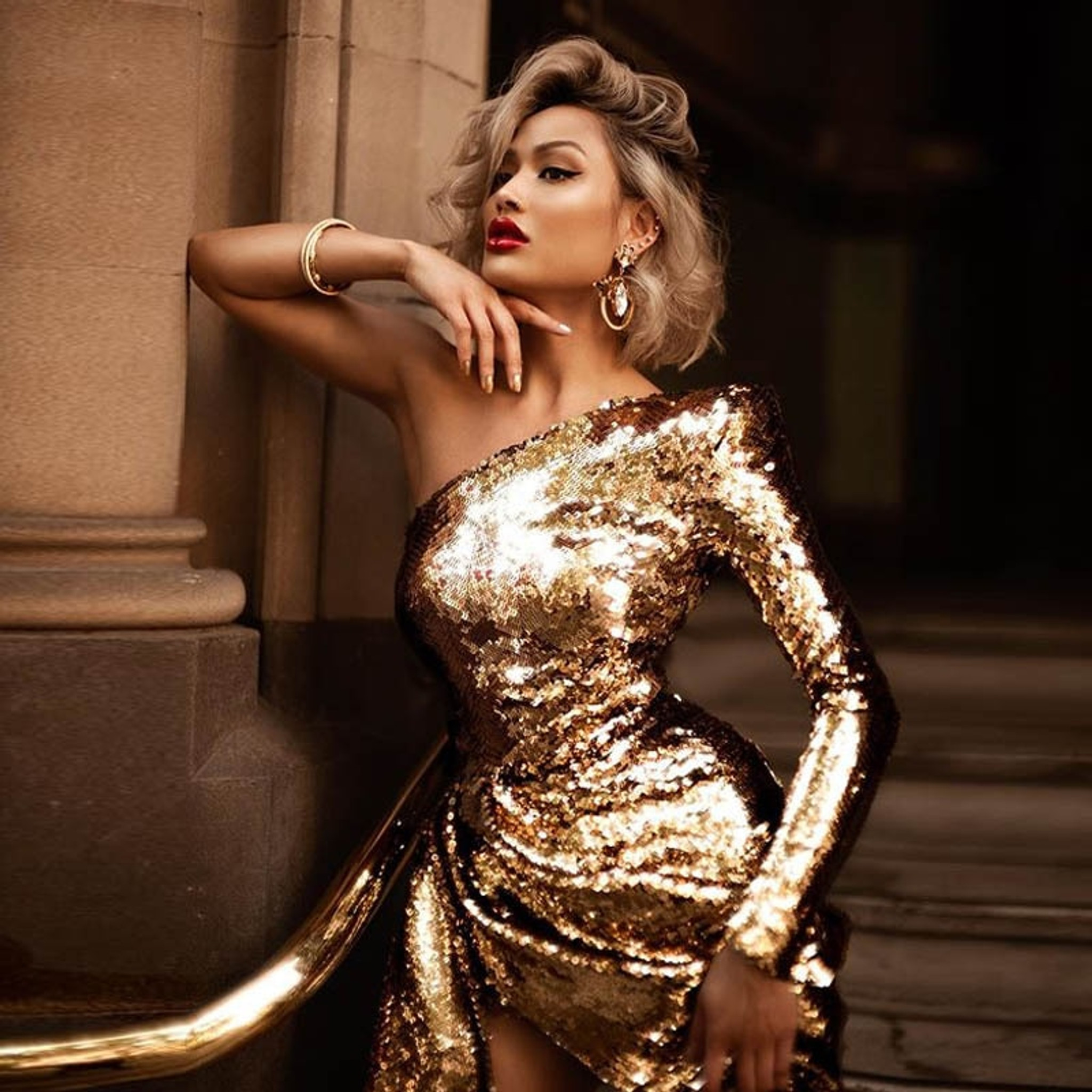 Heather Gold Dress