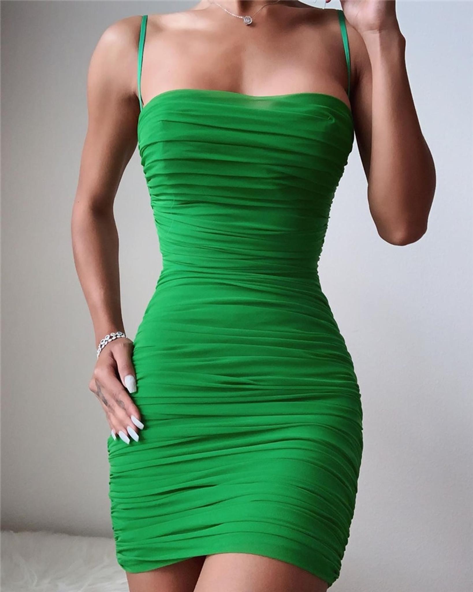 Ruched Semi Sheer Dress
