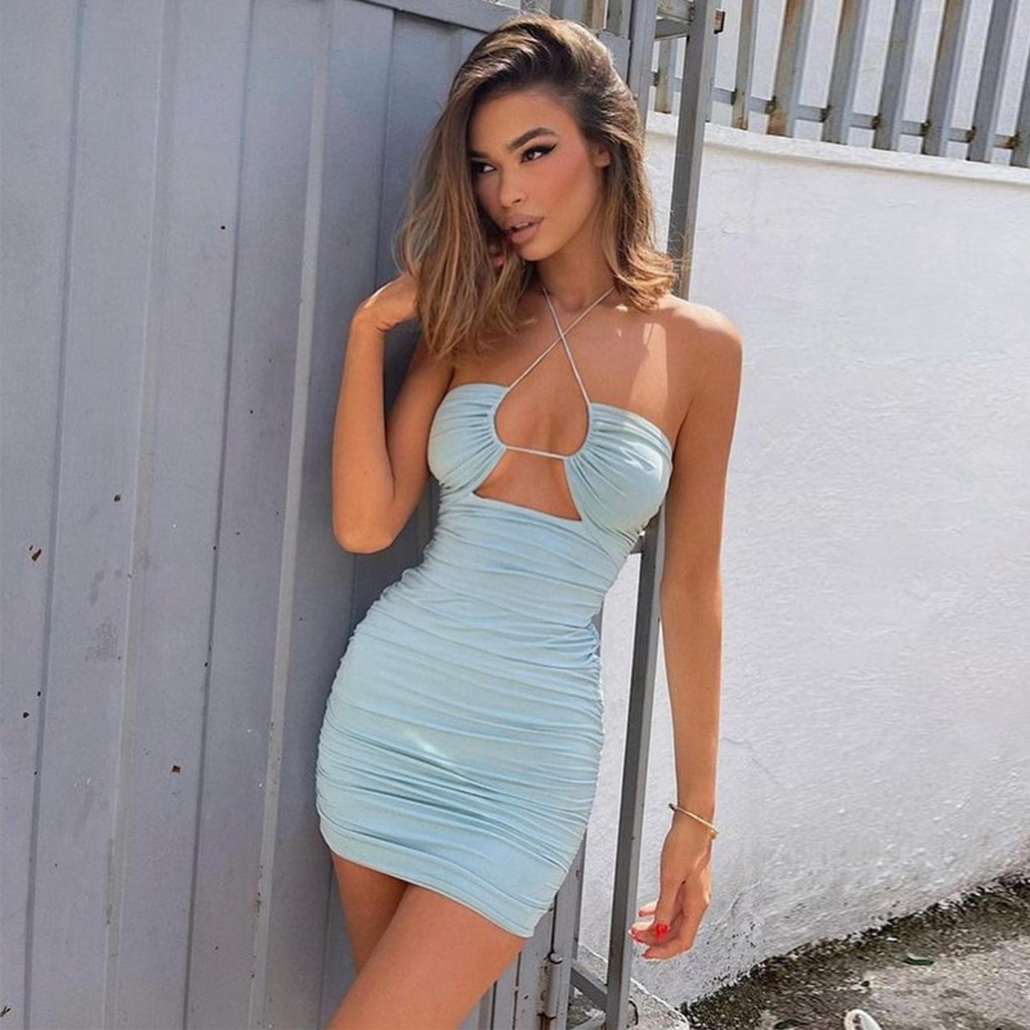 Pastel Blue Peek Dress