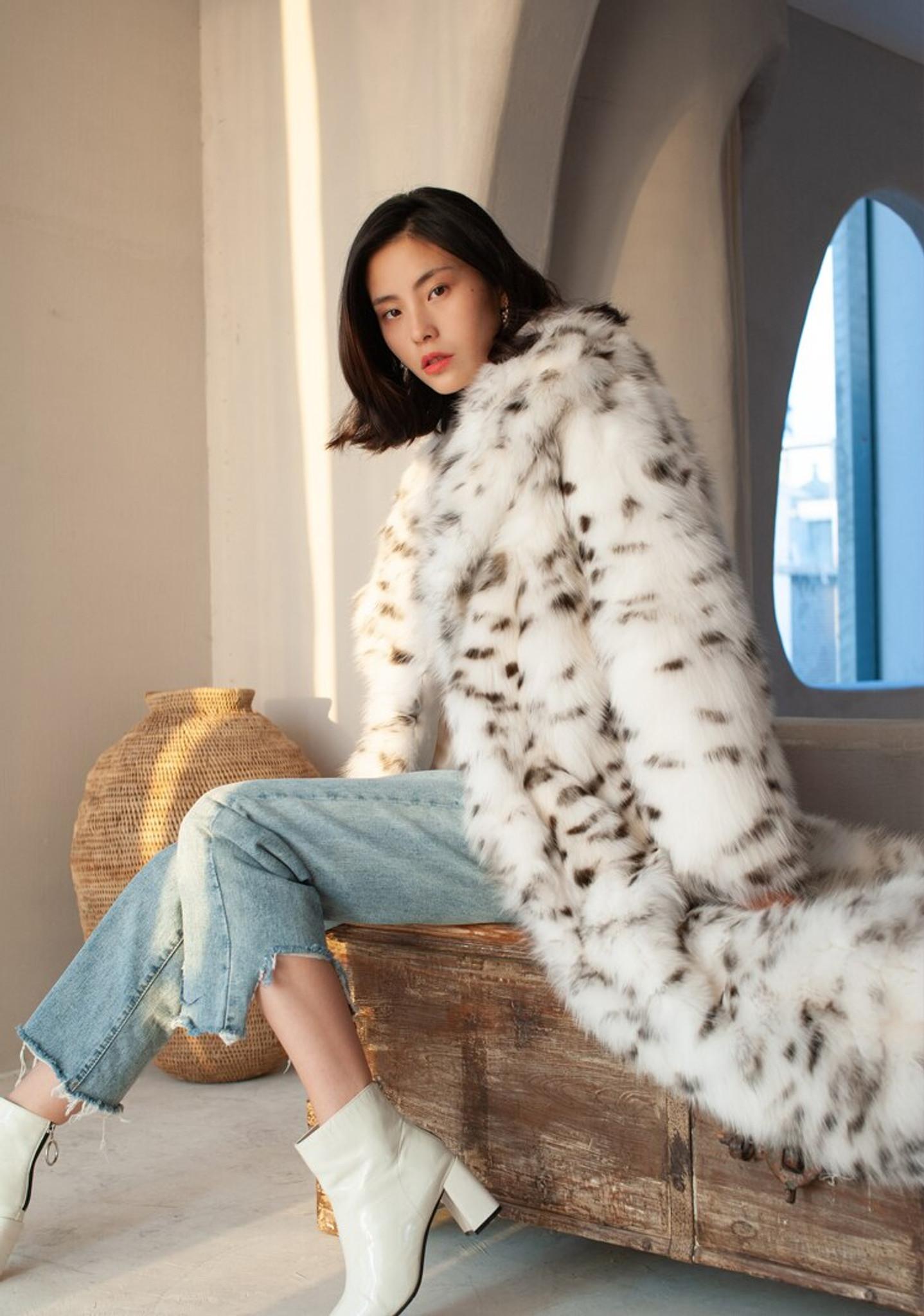 Faux Fur Spotted Coat