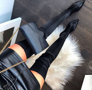 Satin Stretch Boots