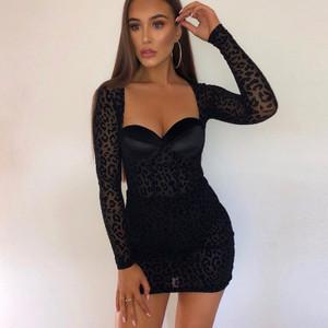 Velvety Leopard Dress